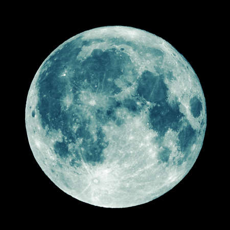 Full moon seen from a telescope from northern emisphere