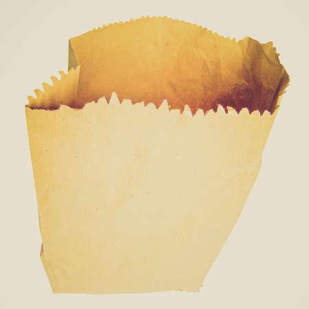 shopper: Vintage looking Paper bag shopper