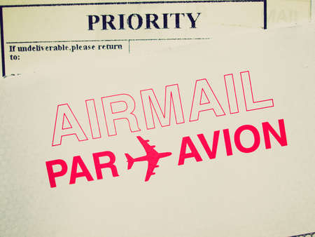 Vintage looking Airmail picture