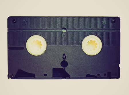 vhs videotape: Vintage looking Videotape magnetic tape cassette for video recording