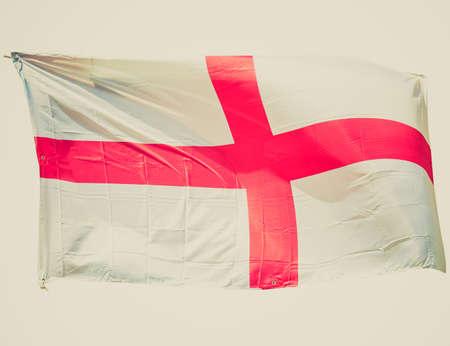 bandiera inghilterra: Vintage cercando bandiera inglese d'Inghilterra, Regno Unito (UK) - isolato su sfondo bianco