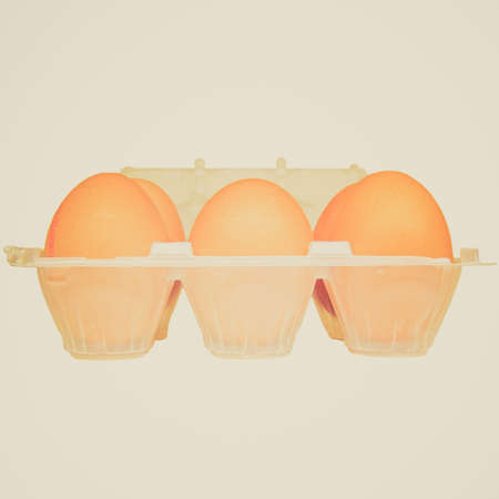 Vintage looking Eggs picture Imagens