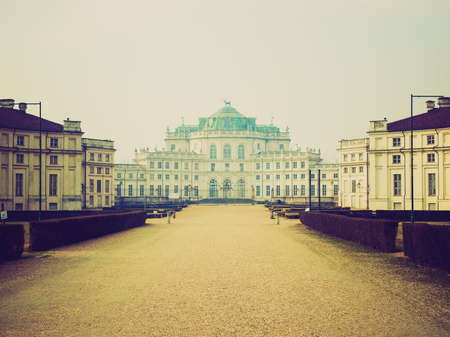 Vintage looking La Palazzina di Caccia di Stupinigi ancient royal residence Stock Photo - 27453481