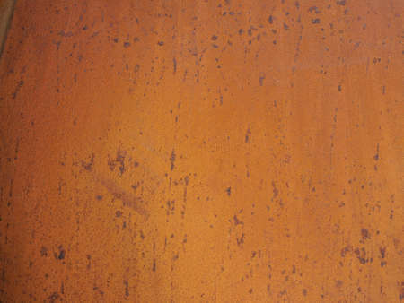 Rusted steel sheet useful as a background