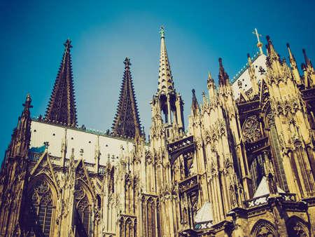 dom: Vintage looking Koelner Dom (Cologne Cathedral) in Koelne, Germany