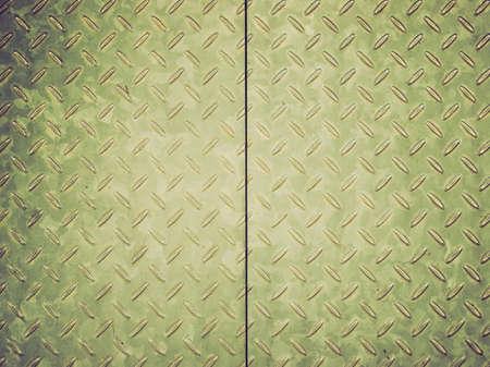 steel sheet: Vintage looking Diamond steel metal sheet  Stock Photo