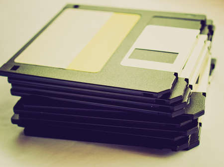 Vintage looking Magnetic floppy disk for computer data storage