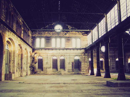 Vintage looking Picture of Abandoned factory industrial archeology architecture photo