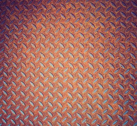 corten: Vintage looking Rusted diamond steel plate