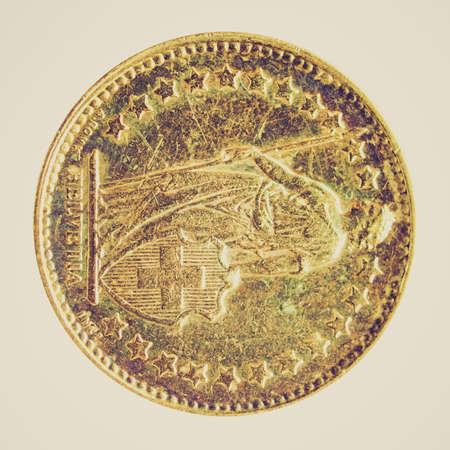 frank szwajcarski: Vintage patrząc Zamknij się z rocznika Frank szwajcarski monety