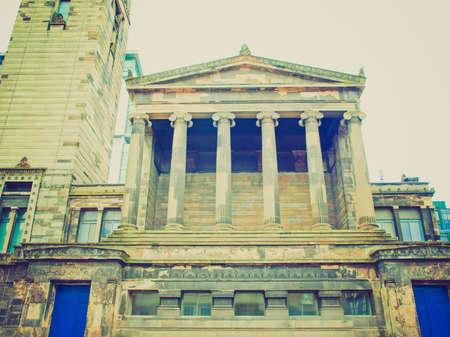 Vintage looking The Greek Thomson Glasgow City Free Church in Scotland, UK photo
