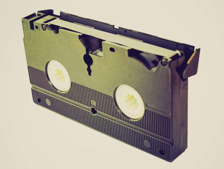 videotape: Vintage looking Videotape magnetic tape cassette for video recording