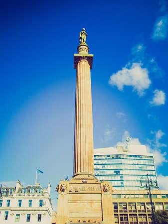 sir walter scott: Vintage looking Sir Walter Scott column in George Square, Glasgow