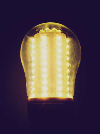 emitting: Vintage looking A lit LED Light Emitting Diod bulb
