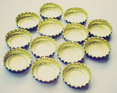 carbonated: Vintage looking Crown cork bottle cap for beer and carbonated drinks