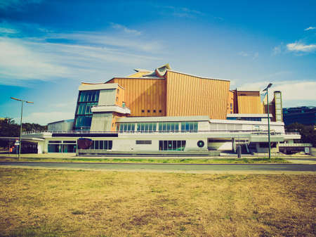 deutschland: Vintage looking Modern architecture in Berlin in Germany (Deutschland): Philharmonie