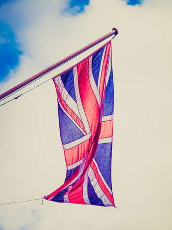 Vintage looking Union Jack national flag of United Kingdom (UK) photo