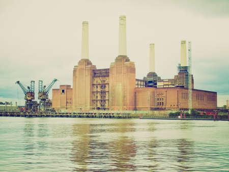 Vintage looking Battersea Power Station in London, England, UK photo