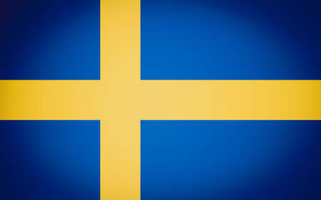 Vintage looking Swedish flag of Sweden - Proportions: 8:5 - Colours: Yellow NCS 0580-Y10R, Blue NCS 4055-R95B photo