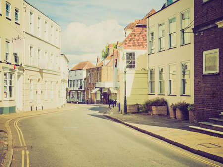 canterbury: Vintage looking The City of Canterbury in Kent England UK