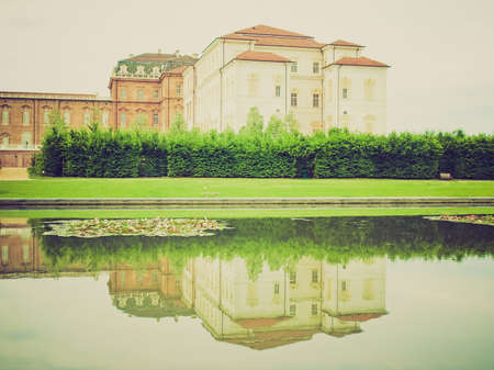 reale: Vintage looking Reggia di Venaria Reale (Royal Palace) near Turin, Italy Editorial