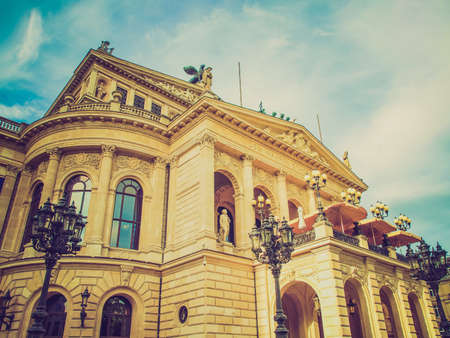 Vintage looking Alte Oper Old Opera House in Frankfurt am Main Germany