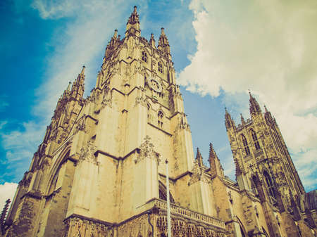 Vintage looking The Canterbury Cathedral in Kent England UK photo
