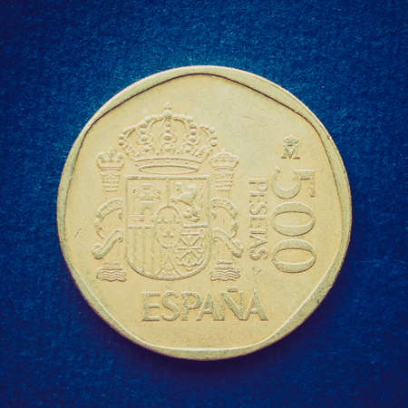 Vintage looking Euro coin (currency of the European Union) photo
