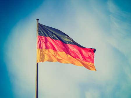 Vintage looking The national German flag of Germany (DE) photo