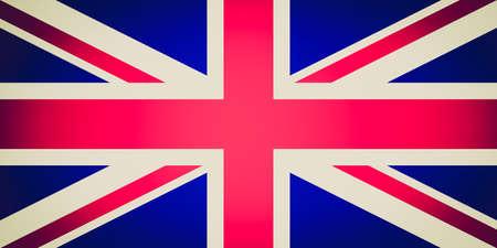 bandera de reino unido: Vintage mirando Oficial bandera del Reino Unido de la Gran Breta�a tambi�n conocido como Union Jack