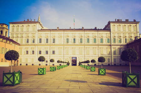reale: Vintage looking Palazzo Reale (Royal palace) in Turin, Italy