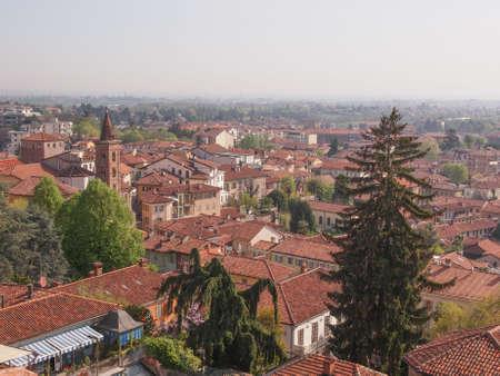rivoli: The old town city centre in Rivoli Italy