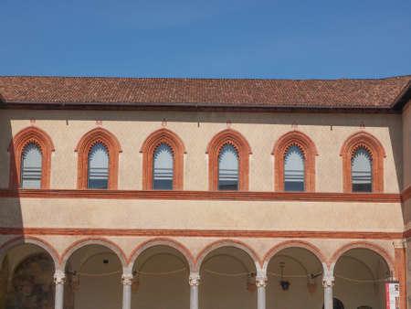 sforza: Castello Sforzesco (Sforza Castle) in Milan Italy