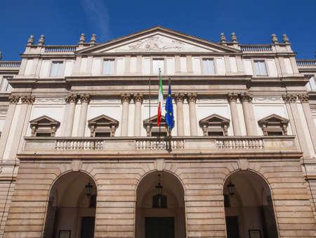 scala: Teatro alla Scala theatre in Milan Italy
