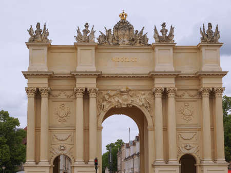 brandenburger tor: Brandenburger Tor Brandenburg Gate in Potsdam Berlin Germany Stock Photo