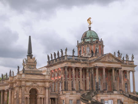 neues: Ruins of the Neues Palais new royal palace in Park Sanssouci in Potsdam Berlin Editorial