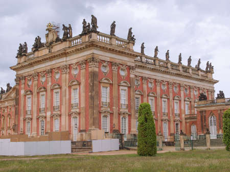 Ruins of the Neues Palais new royal palace in Park Sanssouci in Potsdam Berlin