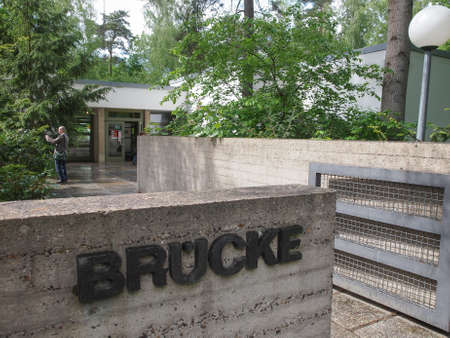 expressionist: BERLIN, GERMANY - MAY 11, 2014: The Bruecke Museum of the Expressionism host the major collection of German expressionist paintings