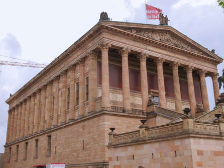 alte: BERLIN, GERMANY - MAY 09, 2014: People visiting the Alte Nationalgalerie museum in Berlin Germany Editorial