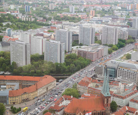 Aeria view of the city of Berlin in Germany photo