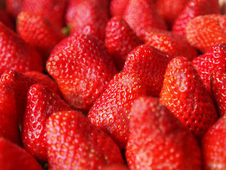 fragaria: Strawberry fruit aka garden strawberry or fragaria Stock Photo