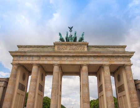 brandenburger tor: Brandenburger Tor Brandenburg Gate famous landmark in Berlin Germany Stock Photo