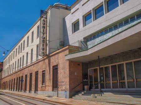 arturo: TURIN, ITALY - JUNE 20, 2014: The Auditorium RAI music hall designed by architect Carlo Mollino in 1958 and dedicated to music director Arturo Toscanini is a masterpiece of modern architecture Editorial