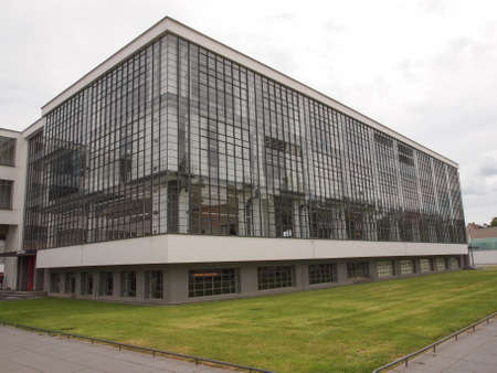 bauhaus: DESSAU, GERMANY - JUNE 13, 2014: The Bauhaus art school iconic building designed by architect Walter Gropius in 1925 is a listed masterpiece of modern architecture Editorial