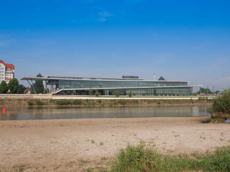 DRESDEN, GERMANY - JUNE 11, 2014: Kongresszentrum congress centre on River Elbe