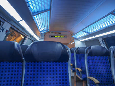 regional: Interior Regional de tren, en Sajonia, Alemania, Europa Editorial
