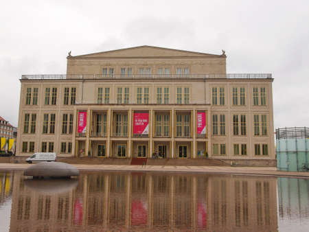 music venue: LEIPZIG, GERMANY - JUNE 14, 2014: The new Opera House built in 1956 is the main music venue in Leipzig Editorial