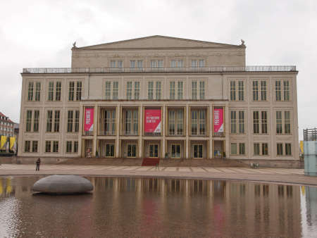 LEIPZIG, GERMANY - JUNE 14, 2014: The new Opera House built in 1956 is the main music venue in Leipzig