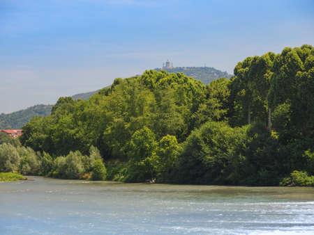 po: Fiume Po River Po in Turin Italy