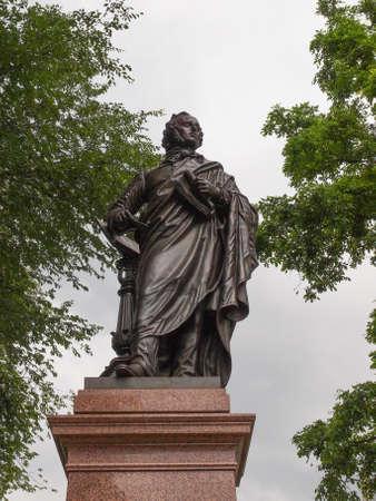 felix: The Mendelssohn Denkmal monument to German musician Jakob Ludwig Felix Mendelssohn Bartholdy was designed by Werner Stein in 1892 in Leipzig Germany